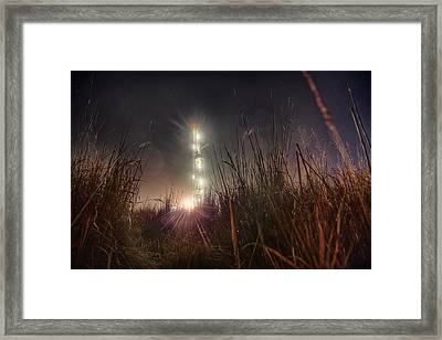 Towering Oil Framed Print