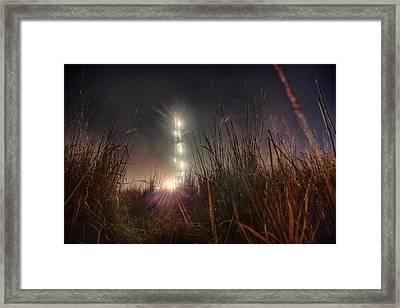Towering Oil Framed Print by Thomas Zimmerman