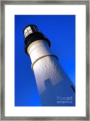 Towering Portland Head Light Framed Print