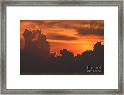 Towering Silhouettes Framed Print