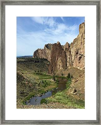 Towering Smith Rocks Framed Print