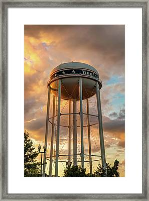 Towering Sunset - Bentonville Arkansas Usa Framed Print