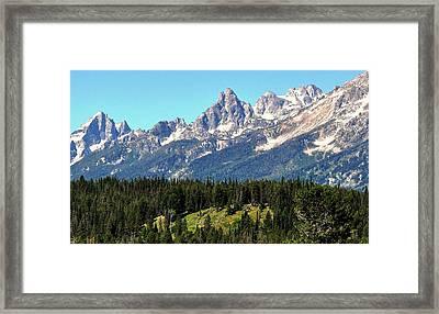 Towering Teton Range  Framed Print