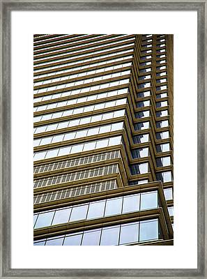 Framed Print featuring the photograph Towering Windows by Karol Livote