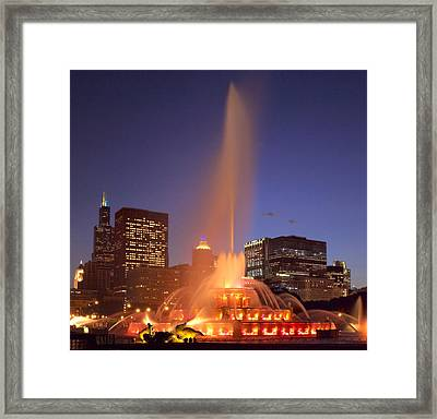 Towers And Fountains Framed Print by Donald Schwartz