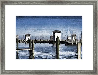 Towers And Masts Framed Print by Roberta Byram