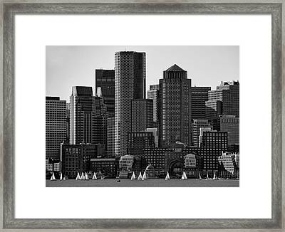Towers Framed Print by Andreas Feldtkeller