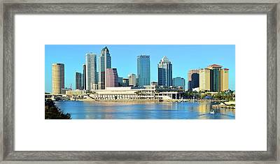 Framed Print featuring the photograph Towers By The Bay by Frozen in Time Fine Art Photography