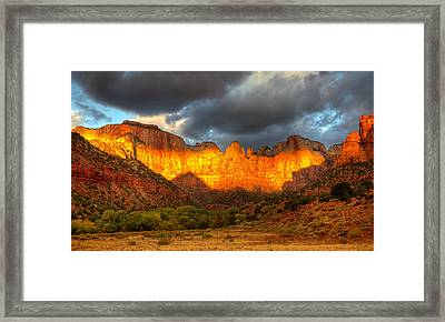 Towers Of The Virgin Two Framed Print by Paul Basile