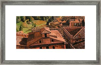 Town And Country Framed Print by Jennie Traill Schaeffer
