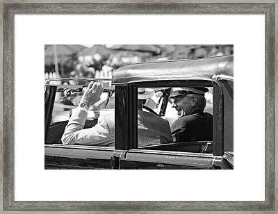 Town Car At Pebble Beach Framed Print