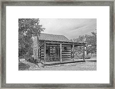 Town Creek Log Cabin Framed Print