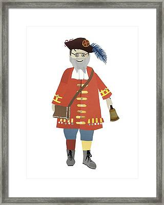 Town Crier Framed Print by Isoebl Barber