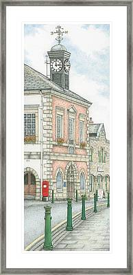 Town Hall Clock Garstang Lancashire Framed Print by Sandra Moore