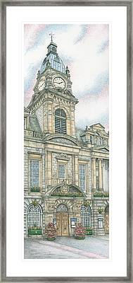 Town Hall Clock Kendal Cumbria Framed Print by Sandra Moore