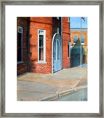 Town Hall Framed Print by William  Brody