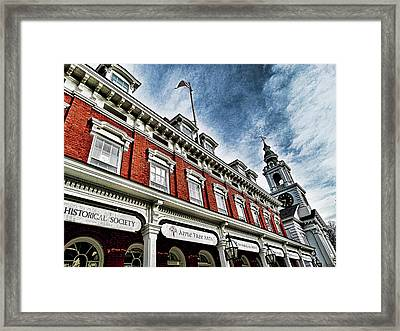 Town House And Church Framed Print