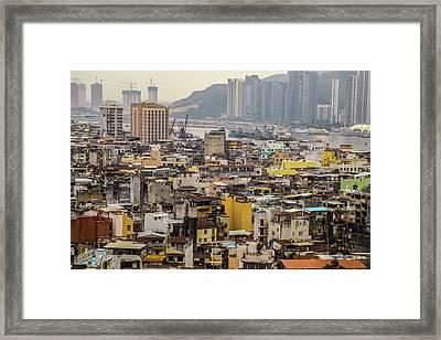 Town In Macau Framed Print