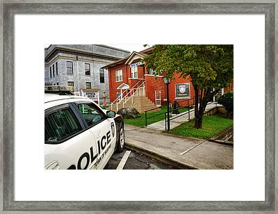 Town Of Murphy Police Framed Print by Greg Mimbs