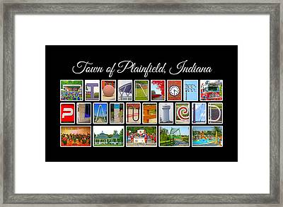 Town Of Plainfield Indiana Framed Print by Dave Lee