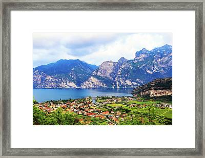 Town Of Riva Del Garda In Northern Italy Framed Print