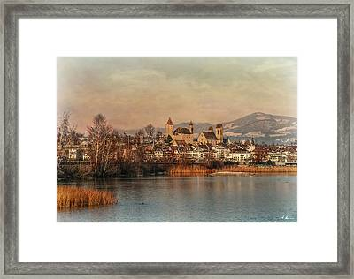 Framed Print featuring the photograph Town Of Roses by Hanny Heim