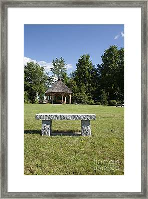 Town Park In Bartlett New Hampshire Usa Framed Print by Erin Paul Donovan