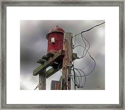 Town Siren Framed Print
