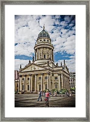 Town Square Framed Print by Dean Farrell