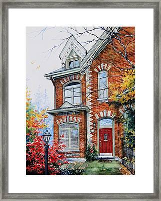 Townhouse Portrait Framed Print