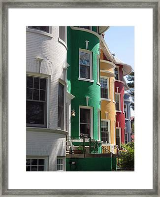 Townhouse Row 1 Framed Print by Sean Owens
