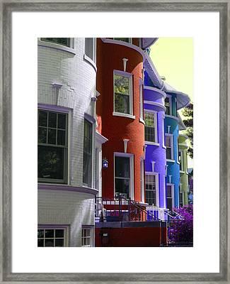 Townhouse Row 2 Framed Print by Sean Owens