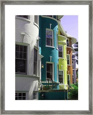 Townhouse Row 3 Framed Print by Sean Owens