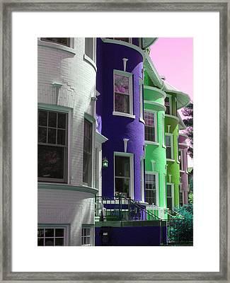 Townhouse Row 4 Framed Print by Sean Owens