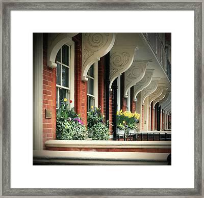 Townhouse Row - London Framed Print