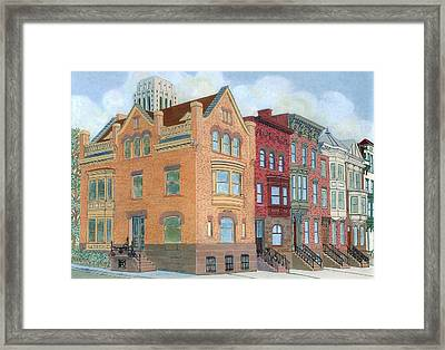 Townhouses Framed Print by David Hinchen