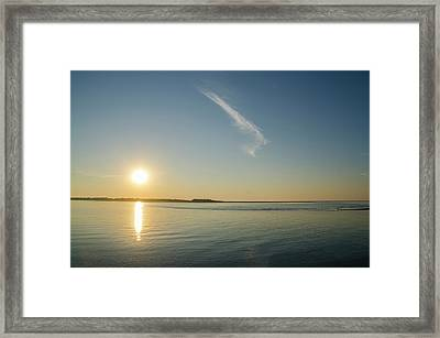 Townsends Inlet Sunrise Framed Print by Bill Cannon