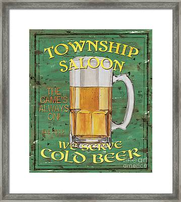 Township Saloon Framed Print by Debbie DeWitt