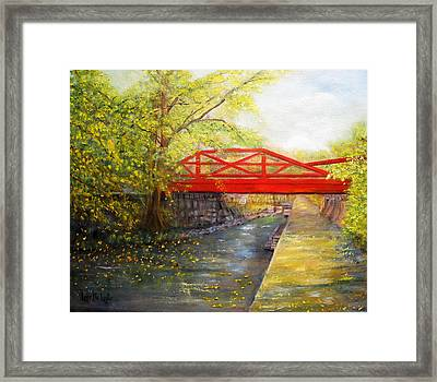 Towpath In New Hope Framed Print