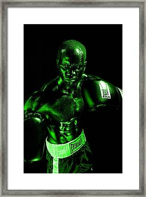 Toxic Boxer Framed Print by Val Black Russian Tourchin