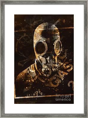 Toxic Gas Chemical Hazard Framed Print