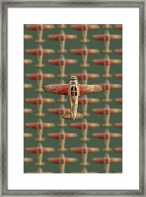 Framed Print featuring the photograph Toy Airplane Scrapper Pattern by YoPedro