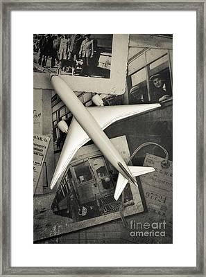 Toy Airplane Vintage Travel Framed Print
