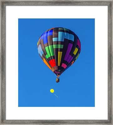 Toy Balloon And Hot Air Balloon Framed Print