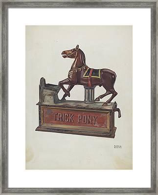 Toy Bank - Trick Pony Framed Print by Florian Rokita