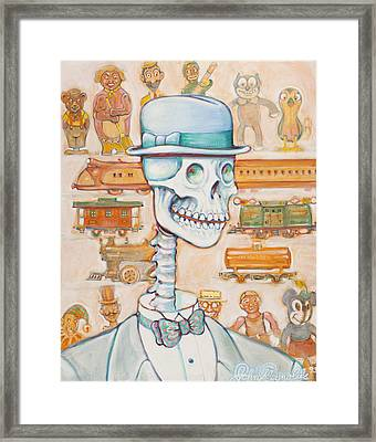 Toy Bones Framed Print