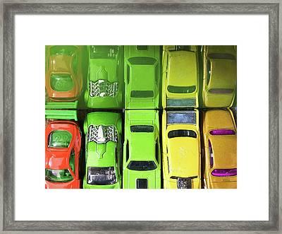 Toy Cars Framed Print