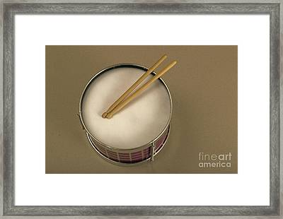 Toy Drum Framed Print by Tony Freeman