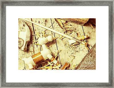 Toy Making At Santas Workshop Framed Print