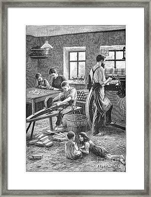 Toy Manufacturing, 19th Century Framed Print by Spl
